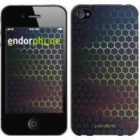 Чехол для iPhone 4 Переливающиеся соты 498c-15