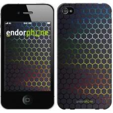 Чехол для iPhone 4s Переливающиеся соты 498c-12