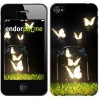Чехол для iPhone 4 Светящиеся бабочки 2983c-15