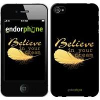 Чехол для iPhone 4s Верь в свою мечту 3748c-12