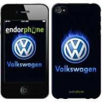 Чехол для iPhone 4 Volkswagen. Fire logo 3141c-15