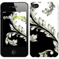 Чехол для iPhone 4s White and black 1 2805c-12