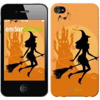 Чехол для iPhone 4 Ведьма на метле 1184c-15