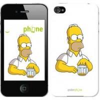 Чехол для iPhone 4s Задумчивый Гомер. Симпсоны 1234c-12