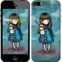 Чехол для iPhone 5s Девочка с зайчиком 915c-21
