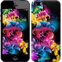 Чехол для iPhone 5 Абстрактные цветы 511c-18