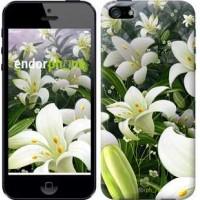 Чехол для iPhone SE Белые лилии 2686c-214