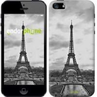 Чехол для iPhone SE Чёрно-белая Эйфелева башня 842c-214