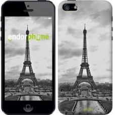 Чехол для iPhone 5s Чёрно-белая Эйфелева башня 842c-21