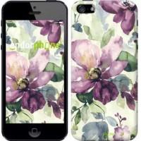 Чехол для iPhone 5 Цветы акварелью 2237c-18