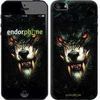 Чехол для iPhone 5 Дьявольский волк 833c-18