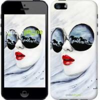 Чехол для iPhone SE Девушка акварелью 2829c-214