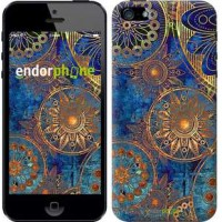 Чехол для iPhone 5s Золотой узор 678c-21