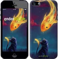 Чехол для iPhone 5 Кошкин сон 3017c-18