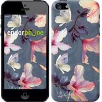 Чехол для iPhone 5s Нарисованные цветы 2714c-21