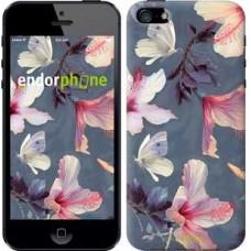 Чехол для iPhone 5 Нарисованные цветы 2714c-18