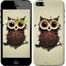 Чехол для iPhone 5 Сова из кофе 777c-18