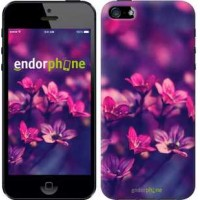 Чехол для iPhone SE Пурпурные цветы 2719c-214