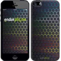 Чехол для iPhone SE Переливающиеся соты 498c-214