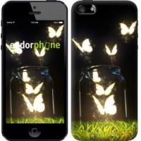 Чехол для iPhone 5s Светящиеся бабочки 2983c-21