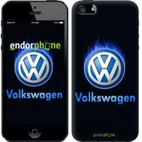 Чехол для iPhone SE Volkswagen. Fire logo 3141c-214