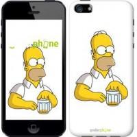 Чехол для iPhone 5 Задумчивый Гомер. Симпсоны 1234c-18