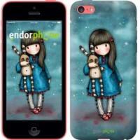 Чехол для iPhone 5c Девочка с зайчиком 915c-23