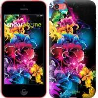 Чехол для iPhone 5c Абстрактные цветы 511c-23