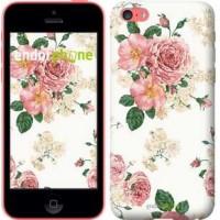 Чехол для iPhone 5c цветочные обои v1 2293c-23