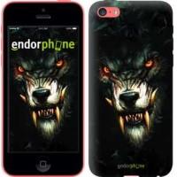 Чехол для iPhone 5c Дьявольский волк 833c-23
