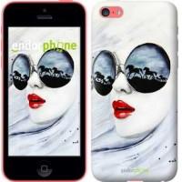Чехол для iPhone 5c Девушка акварелью 2829c-23