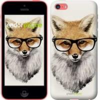 Чехол для iPhone 5c Лис в очках 2707c-23