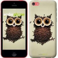 Чехол для iPhone 5c Сова из кофе 777c-23