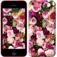 Чехол для iPhone 5c Розы и пионы 2875c-23