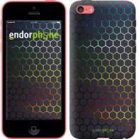 Чехол для iPhone 5c Переливающиеся соты 498c-23