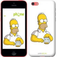 Чехол для iPhone 5c Задумчивый Гомер. Симпсоны 1234c-23