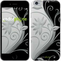 Чехол для iPhone 6s Цветы на чёрно-белом фоне 840c-90
