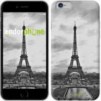 Чехол для iPhone 6s Чёрно-белая Эйфелева башня 842c-90