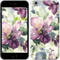 Чехол для iPhone 6 Цветы акварелью 2237c-45