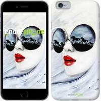 Чехол для iPhone 6 Девушка акварелью 2829c-45