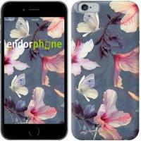 Чехол для iPhone 6 Нарисованные цветы 2714c-45