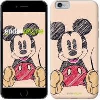 Чехол для iPhone 6s Нарисованный Мики Маус 2731c-90