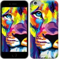 Чехол для iPhone 6 Разноцветный лев 2713c-45