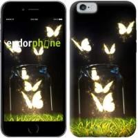 Чехол для iPhone 6 Светящиеся бабочки 2983c-45