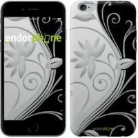 Чехол для iPhone 6 Plus Цветы на чёрно-белом фоне 840c-48
