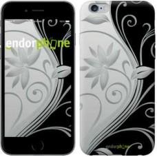Чехол для iPhone 6s Plus Цветы на чёрно-белом фоне 840c-91