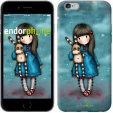 Чехол для iPhone 6s Plus Девочка с зайчиком 915c-91