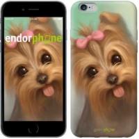 Чехол для iPhone 6s Plus Нарисованный йоркширский терьер 928c-91