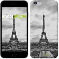 Чехол для iPhone 6s Plus Чёрно-белая Эйфелева башня 842c-91