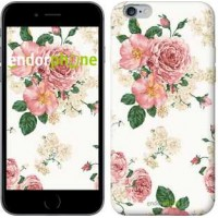 Чехол для iPhone 6 Plus цветочные обои v1 2293c-48